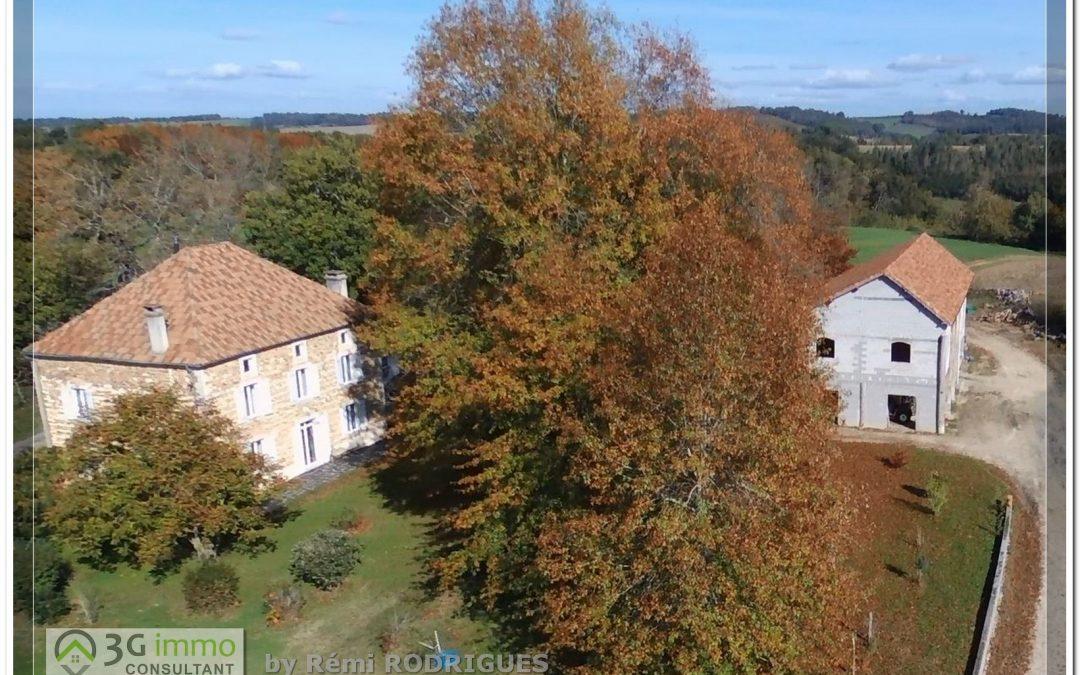Arzacq, Magnifique Propriété de 324m² habitables, dépendances et possibilité de terres jusqu'à 24 hectares